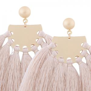 Statement Tassel Geometric Earrings -