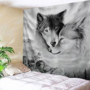 Wolf Printed Wall Hanging Throw Tapestry