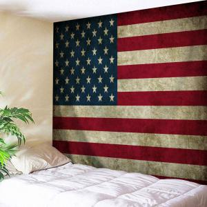 Distressed American Flag Throw Wall Art Tapestry