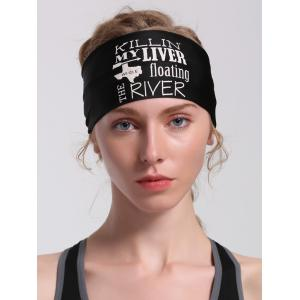 Running Hip Hop Letters Pattern Headband -