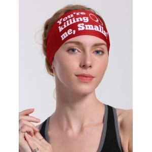 Cycling Sport Letters Printing Headband - RED
