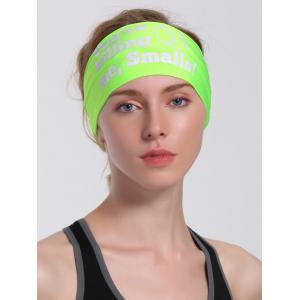 Cycling Sport Letters Printing Headband - NEON GREEN