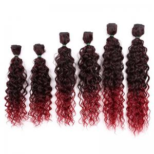 6PCS 14~18 Inches Jerry Wave Colormix Hair Wefts