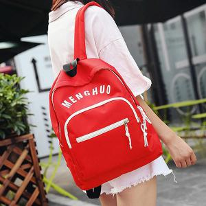 Graphic Printed Nylon Backpack -