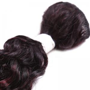 8PCS Caribbean Jerry Curly Human Hair Mixed Synthetic Fiber Hair Wefts -