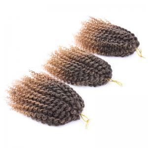 Short Fluffy Afro Curly Mali Bob Braids Synthetic Hair Weft