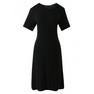 Casual Short Sleeve Sheath Dress