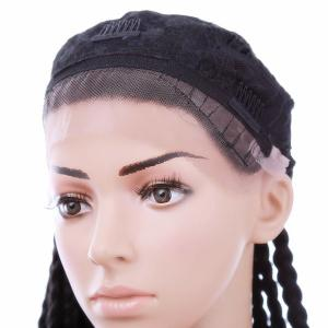 Long Three Strand Box Braided Synthetic Lace Front Wig -