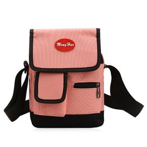 Nylon Front Pockets Crossbody Bag