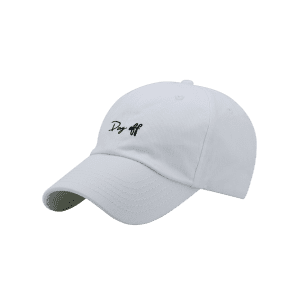Letters Embroidery Sport Baseball Cap - WHITE