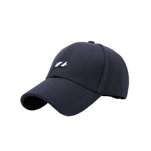 Tiny Rectangle Embellished Baseball Cap - BLACK
