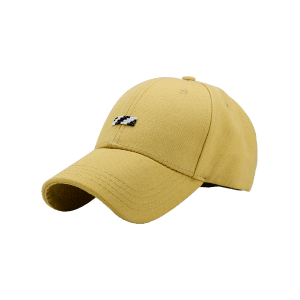 Tiny Rectangle Embellished Baseball Cap - Jaune