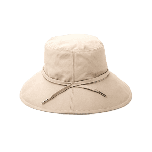 Ribbon Embellkished Sunscreen Bucket Hat - Apricot