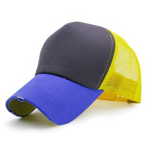 Broken Hole Mesh Splicing Baseball Cap