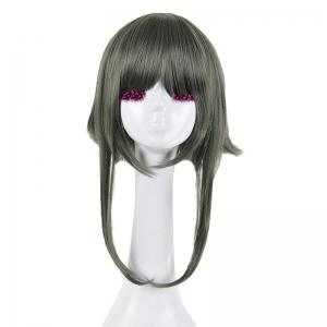 Long Full Bang Straight Round Braided Lolita Cosplay Wig - Ink Painting