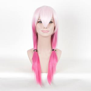 Long Colormix Straight Anime Guilty Crown Inori Yuzuriha Cosplay Wig - Pink