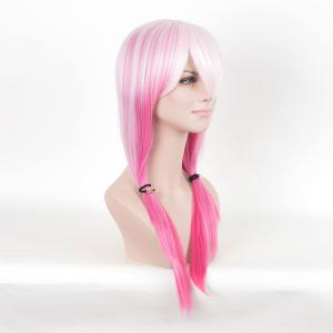 Long Colormix Straight Anime Guilty Couronne Inori Yuzuriha Cosplay Perruque - ROSE PÂLE