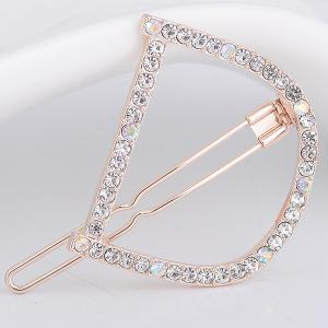 Rhinestone Hollow Out Letter D Hair Clip