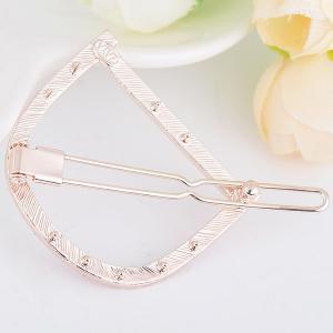Strass Hollow Out Letter D Hair Clip - Papaye