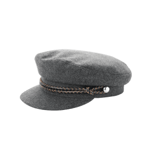 Woolen Blended Rope Embellished Peaked Hat