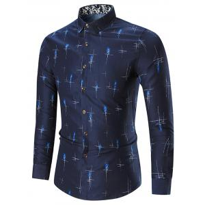 Printed Plus Size Long Sleeve Shirt