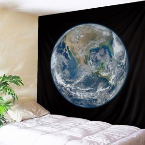 Earth Planet Print Tapestry Wall Hanging Art Decoration