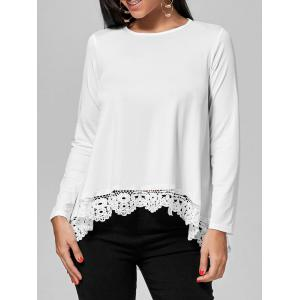 Lace Panel Long Sleeve T-shirt