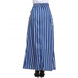 Striped Maxi Skirt - BLUE S