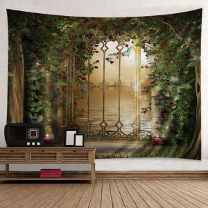 Floral Door Lake Print Tapestry Wall Hanging Art Decoration -