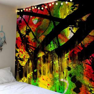 Oil Painting Branch Wood Grain Wall Tapestry