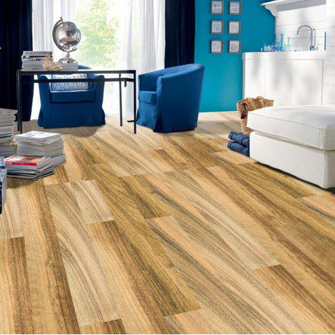 Outfit Decorative Removable Wood Grain Floor Sticker - LIGHT BROWN  Mobile
