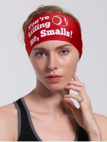 Fancy Cycling Sport Letters Printing Headband RED