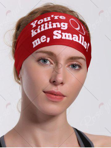 Store Cycling Sport Letters Printing Headband - RED  Mobile