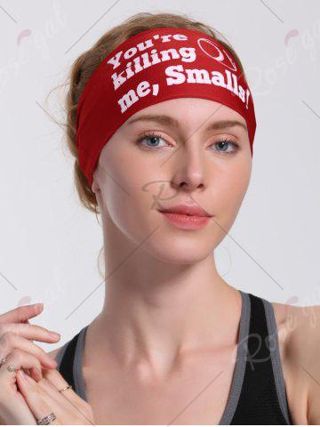 Cheap Cycling Sport Letters Printing Headband - RED  Mobile