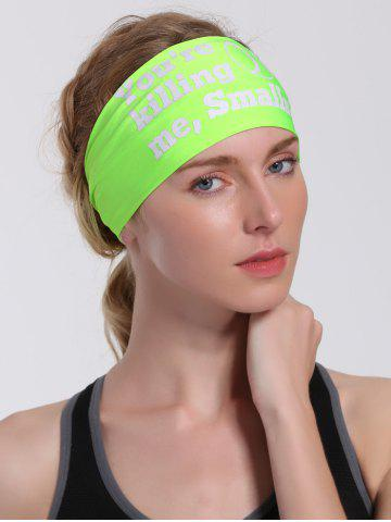 Cheap Cycling Sport Letters Printing Headband - NEON GREEN  Mobile