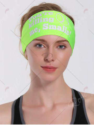 Sale Cycling Sport Letters Printing Headband - NEON GREEN  Mobile