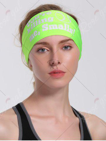 Latest Cycling Sport Letters Printing Headband - NEON GREEN  Mobile