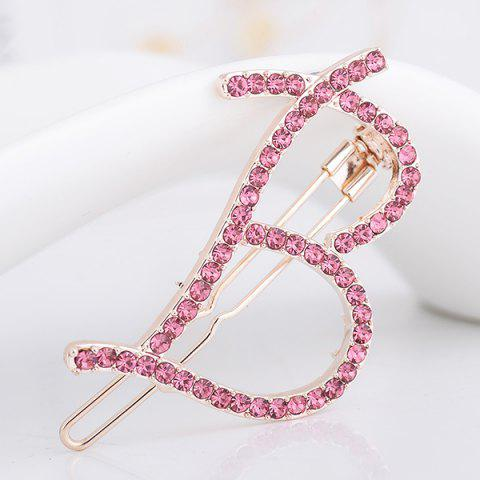 Outfits Letter B Shape Rhinestone Embellished Hairclip - PAPAYA  Mobile