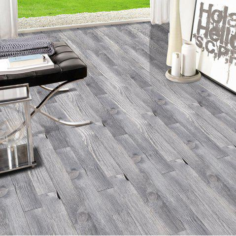 Hot A Roll of Wood Grain Decorative Vinyl Floor Sticker SMOKY GRAY