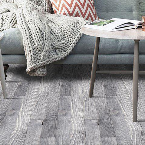 Fashion A Roll of Wood Grain Decorative Vinyl Floor Sticker - SMOKY GRAY  Mobile