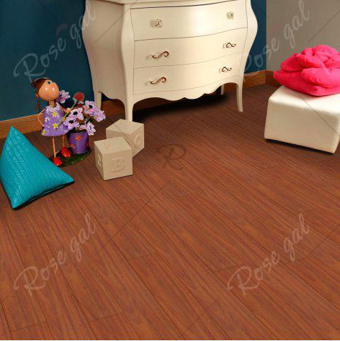 Shops A Roll of Vintage Wood Grain Vinyl Floor Sticker - BROWN  Mobile