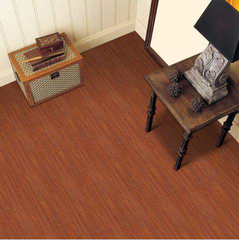 Fashion A Roll of Vintage Wood Grain Vinyl Floor Sticker - BROWN  Mobile
