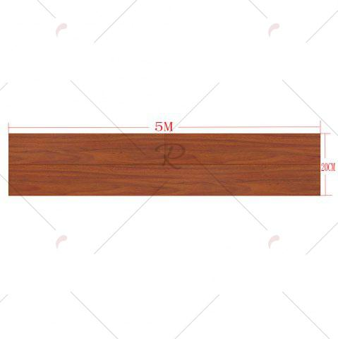 Affordable A Roll of Vintage Wood Grain Vinyl Floor Sticker - BROWN  Mobile