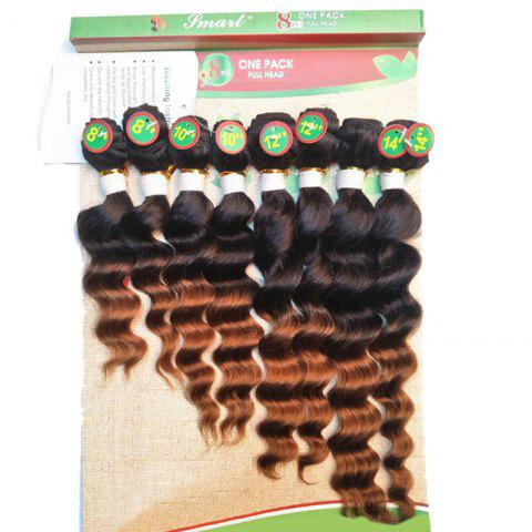 Sale 8PCS Caribbean Deep Wave Different Sizes Hair Wefts - BROWN  Mobile