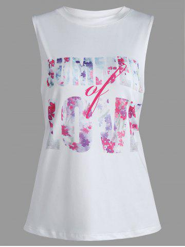 Summer Love Graphic Tank Top Blanc S