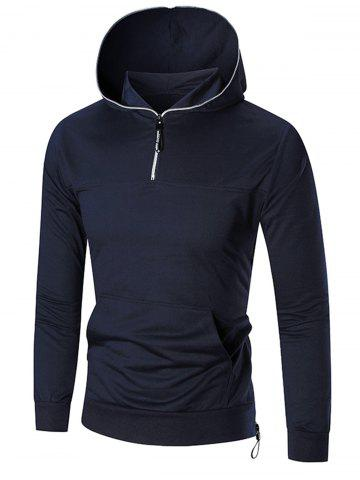 Slim Sports Half Zip Hoodie - Cadetblue - M