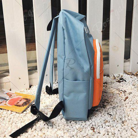 Shops Graphic Printed Nylon Backpack - BLUE  Mobile