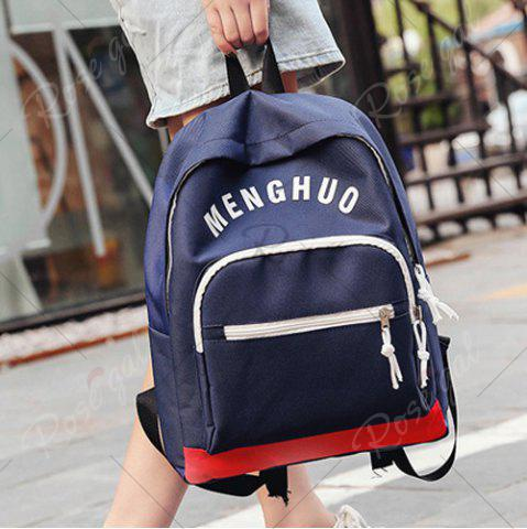 Best Graphic Printed Nylon Backpack - DEEP BLUE  Mobile