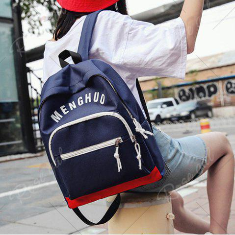 Cheap Graphic Printed Nylon Backpack - DEEP BLUE  Mobile