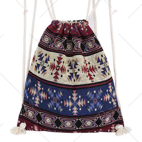Buy Drawstring Ethnic Print Backpack - COLORMIX  Mobile